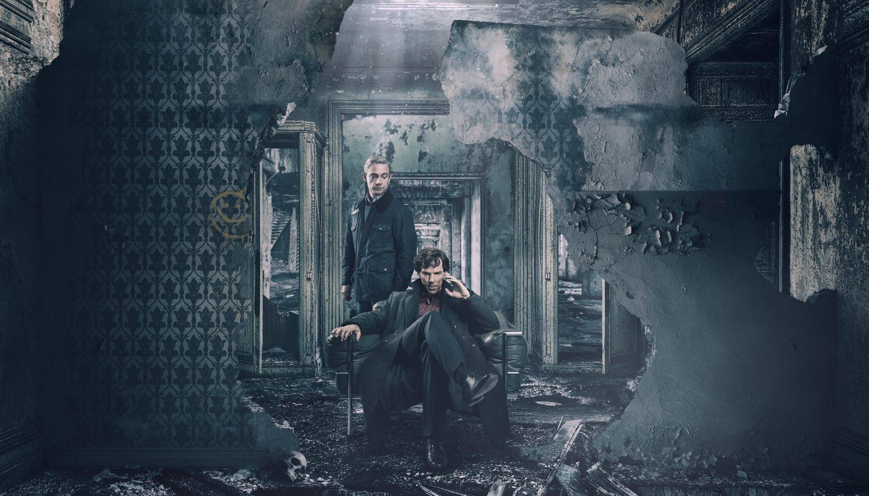 John Watson (MARTIN FREEMAN) and Sherlock Holmes (BENEDICT CUMBERBATCH)
